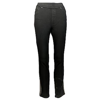 Martha Stewart Femmes's Petit Pantalon Métallisé Tuxedo Stripe Noir A345123