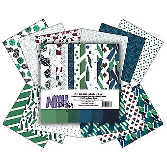 NHH Design All in One Man Cave 6x6 Inch Paper Pack