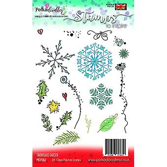 Polkadoodles Snowflake Garden Clear Stamps