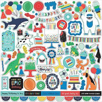 Echo Park It's Your Birthday Boy 12x12 Inch Element Sticker