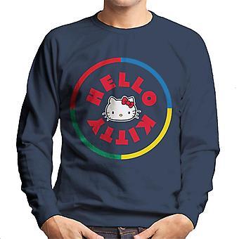 Hello Kitty Flerfarvet Cirkel Mænd's Sweatshirt