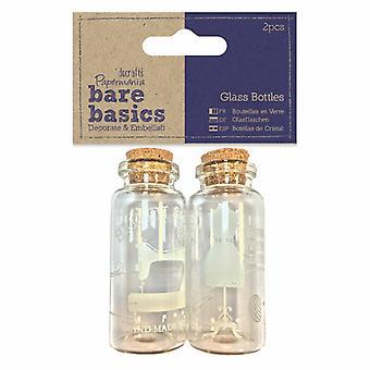 Papermania أساسيات عارية الزجاج الزجاجات Haberdashery (2pcs) (PMA 174778)