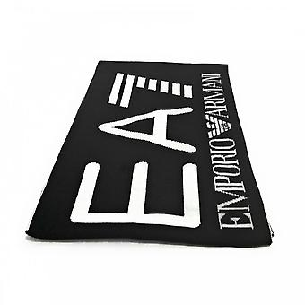 EA7 Emporio Armani Cotton Black/white Scarf