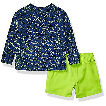 Essentials UPF 50- Baby Boys 2-Piece Long-Sleeve Rashguard and Trunk S...
