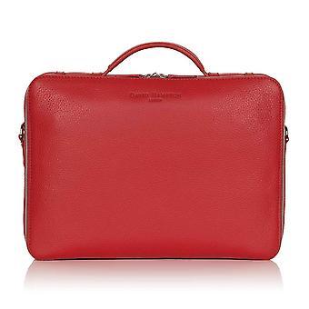 بوبي الأحمر ريتشموند الجلود حقيبة كمبيوتر محمول