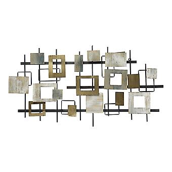 Geometric-inspired Distressed Finish Wall Centerpiece