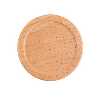 YANGFAN Solid Wood Household Round Coffee Cup Pad