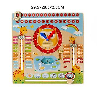 Wooden Magnetic Reward Activity Responsibility Chart Calendar Kids Schedule Educational Toys For Childrens