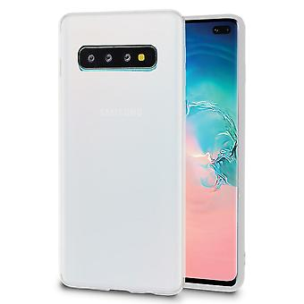 Ultra Thin Shell pour Samsung Galaxy S10 Silicone Lightweight Mobile Shockproof White