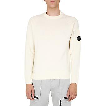 C.p. Compañía 09cmkn111a005504a103 Hombres's Suéter de lana blanca