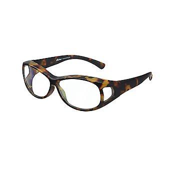 lunettes de transfert pour femmes brunes avec objectif transparent Vz0007ews