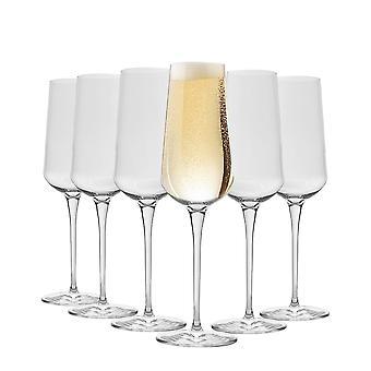 Bormioli Rocco Inalto Uno Champagne Flauta - 285ml - Pack de 12 Vasos de Bebida