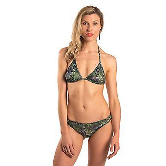 Havana tan door bikini top & korte set