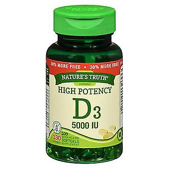 Nature's Truth Nature's Truth High Potency Vitamin D3 Quick Release Softgels, 130 Caps