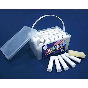52 White Jumbo Playground Chalks for Kids