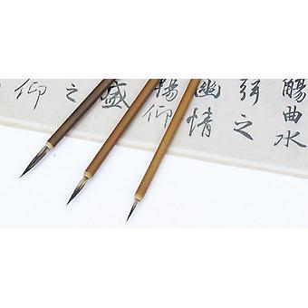 Näätä hiuskoukku, viiva hieno maaliharja - Art Stationary Oil Painting Brush