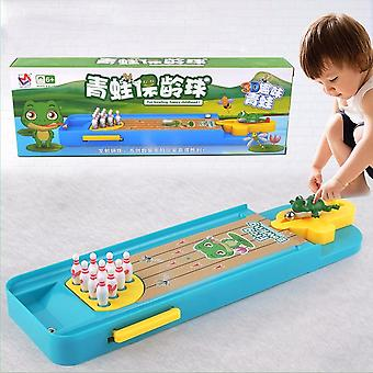 Enfants Mini Desktop Frog Bowling Toy Kits, Portable Indoor Education Table