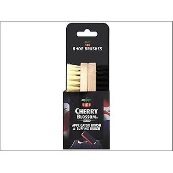 Cherry Blossom Shoe Brush Twin Pack