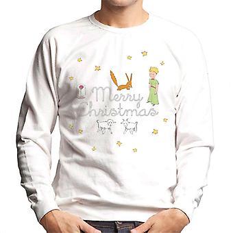 The Little Prince Christmas Stars Fox Sheep Men's Sweatshirt