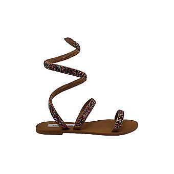 Steve Madden Women's Shoes Garnish Open Toe Casual Strappy Sandals