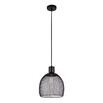 Italux Julienne - Industrie und Retro hängen Anhänger schwarz 3 Licht mit Metall Mesh Shade, E27