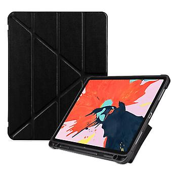 Multi-folding Shockproof TPU Protective Case for iPad Pro 11 inch (2018), with Holder & Pen Slot (Black)