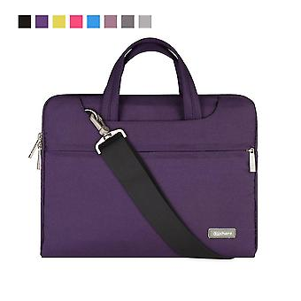 Qishare 13.3-14 inch laptop bag,multifunctional fabric laptop case,portable sleeve briefcase,adjusta