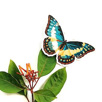 Vinyl Butterfly Sticker - Antique Naturalistic Illustration