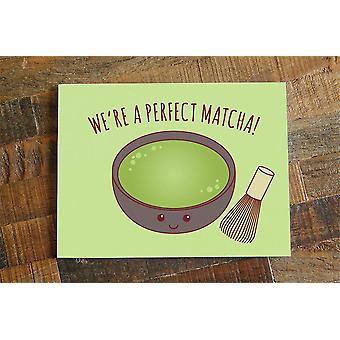 Funny Green Tea Matcha Love Card