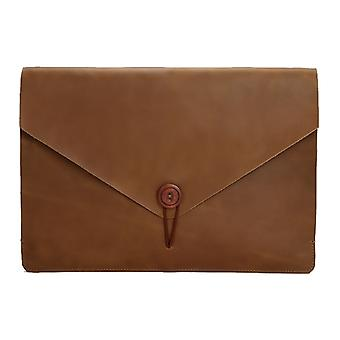 Universal Genuine Leather Business Laptop Tablet Bag, 15,4 tuumaa ja alle Macbookin, Samsungin, Lenovon, Sonyn, DELL Alienwaren, CHUWI: n, ASUS: n, HP: n (keltainen)