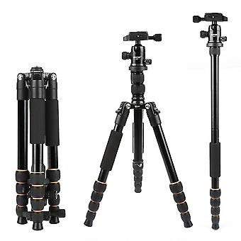 Lightweight Portable Q666 Professional Travel Camera Tripod - Monopod Aluminum