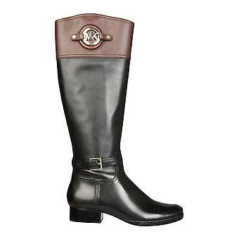 Michael Door Michael Kors 40f3admb6l066 Women's Black Leather Boots