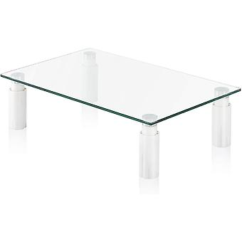 FITUEYES Monitor Stand Glass Transparent 3 Levels Height