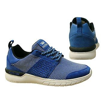 Supra Scissor Ocean Blue White Lace Up Mens Running Trainers 08027 442 B38D
