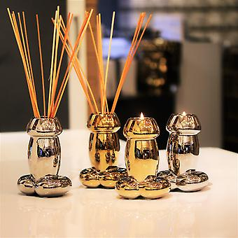 Gold Drip Candle & Reed Diffuser [value Pack]