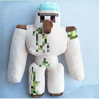 Minecrafted My World Iron Golem Sword Pickaxe Stone Plush Action Figure Room