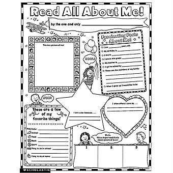 Instant Personal Poster Sets: Read All About Me, Set Of 30