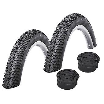 "Bike Set 2 x Kenda K-1153 Bicycle Tires = 52-622 (29×2.1"") + Hoses"