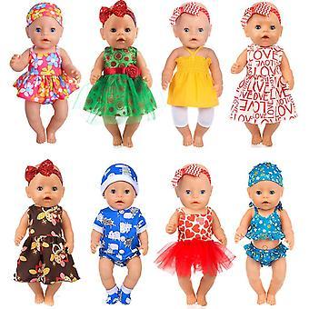 Ebuddy pop kleding-jurk te veranderen show, 8 0utfits totaal 18 pc's past voor 43cm pasgeboren baby pop / 15 i