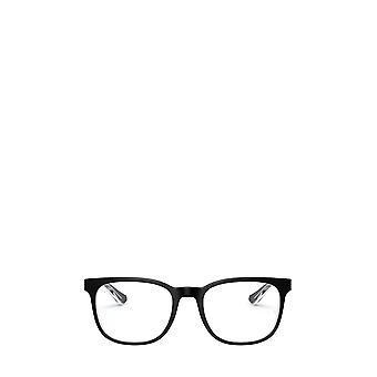 Ray-Ban RX5369 top musta läpinäkyvillä unisex-silmälasilla