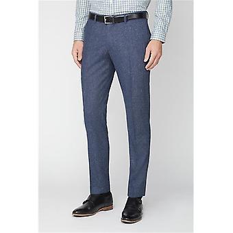 Blue Tweed Suit Trousers