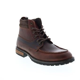 Andrew Marc Yates  Mens Brown Leather Casual Dress Boots