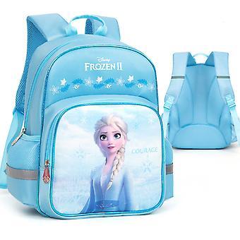 حقيبة المدرسة المجمدة فتاة حقيبة المدرسة الابتدائية على ظهره
