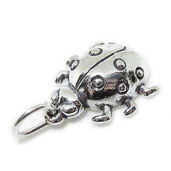 Ladybird Sterling Silver Charm .925 X 1 Ladybirds Ladybugs Charms - 7180