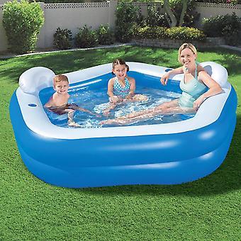"""Bestway 7' x 6'9"""" x 27""""/2.13m x 2.06m x 69cm Family Fun Lounge Pool"""