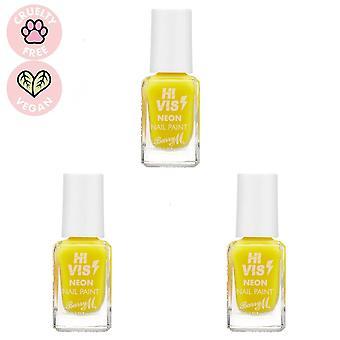 Barry M 3 X Barry M Hi Vis Neon Nail Paint - Yellow Flash