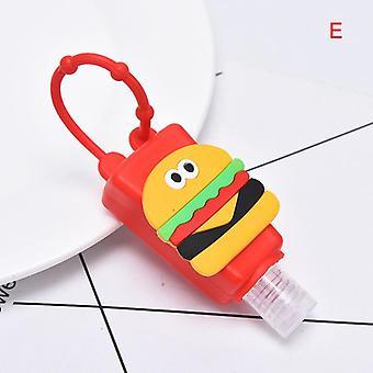 Cartoon Silicone Mini Hand Sanitizer, Disposable, No Clean, Detachable Cover,