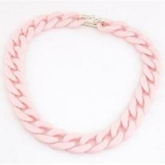 Chunky Long Chain Necklaces Women Boho Colorful Plastic Jewelry