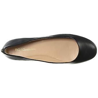 BCBGeneration Women's Shoes Geremia Leather Round Toe Ballet Flats