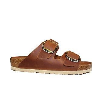 Birkenstock Arizona Big Buckle Cognac Hex Womens Slip On Mule Sandals